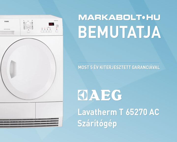 AEG T 65270 AC Kondenzacios Szaritogep Electrolux Zanussi Markabolt Webaruhaz