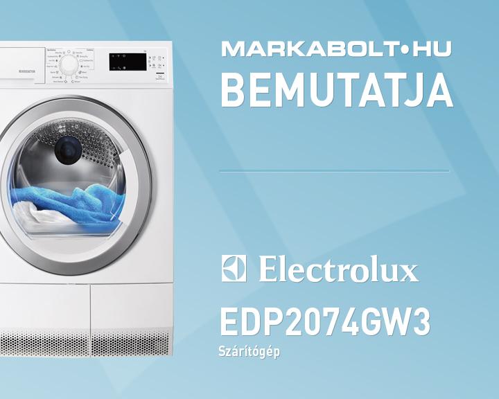 Electrolux edp2074gw3 szárítógép használata